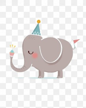 Elephant - Happy Birthday To You Greeting Card Clip Art PNG