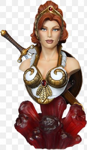 Sorceress Of Castle Grayskull - Teela He-Man Masters Of The Universe Beast Man Bust PNG