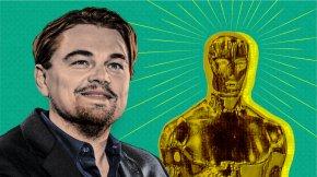 Leonardo Dicaprio - Leonardo DiCaprio 88th Academy Awards The Revenant Academy Award For Best Actor PNG