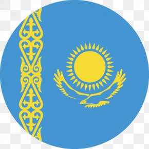 Flag - Flag Of Kazakhstan Flags Of Asia National Flag Astana PNG