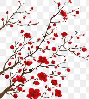 Chinese Painting - Flower Bedroom Wall Decal Wallpaper PNG