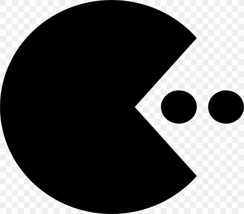 Pac-Man Black And White Wall Decal Photography, PNG, 4726x4150px, Pacman, Black, Black And White, Blue, Color Download Free