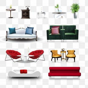 Furniture Vector - Table Furniture Living Room Chair PNG