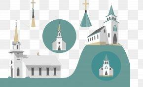 Vector Church - Euclidean Vector Church Illustration PNG