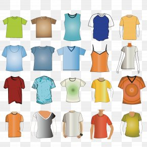 A Variety Of T-shirt Material Vector - T-shirt Hoodie Clothing PNG