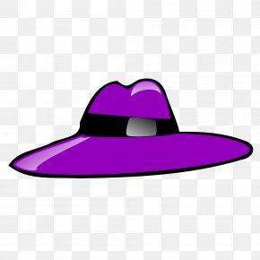 Pimp Cliparts - Top Hat Purple Clip Art PNG