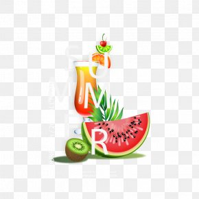 Vector Summer Time - Watermelon Drink Euclidean Vector PNG
