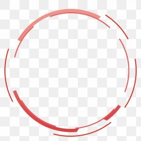 Red Simple Circle Border Texture - Adobe Fireworks PNG