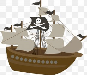 Pirate Ship - Piracy Ship Party Child Birthday PNG