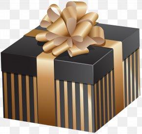 Elegant Gift Box Clip Art Image - Christmas Gift Box Clip Art PNG