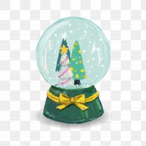 Vector Christmas Crystal Ball - Crystal Ball Christmas Ornament PNG