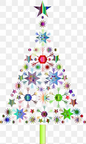 Christmas - Christmas Tree Snowflake Christmas Decoration Clip Art PNG