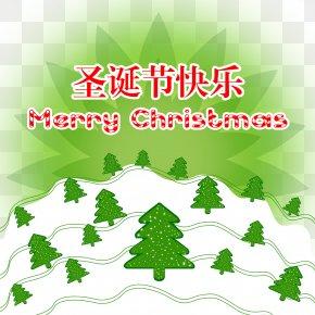 Merry Christmas - Christmas Tree Illustration PNG