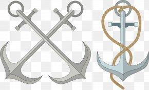 Anchor Head Vector Elements - Maritime Transport Chemical Element Nautica Euclidean Vector Sailor PNG