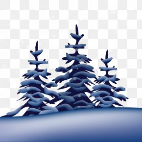 Snow Tree Vector Winter - Winter Snow Tree PNG
