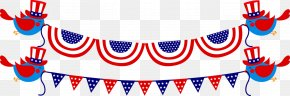 Bunting Flag Pull - Independence Day Clip Art PNG