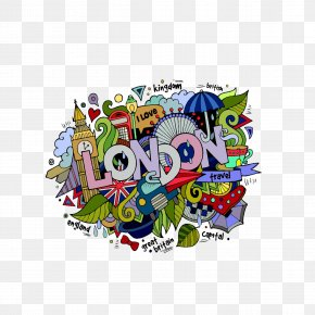 London Illustration Design - London Drawing Doodle Clip Art PNG