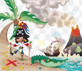 Vector Hand-drawn Cartoon Pirates - Piracy Illustration PNG