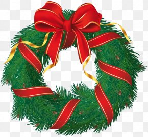 Christmas - Wreath Christmas Ornament Candy Cane Clip Art PNG