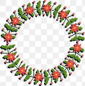 Vector Christmas Wreath - Wreath Garland Christmas Euclidean Vector PNG