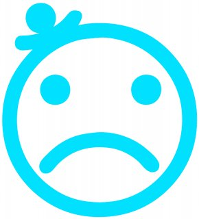 Blue Sad Smileys - Cartoon Face Clip Art PNG