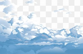 Blue Sky And White Clouds Vector - Sky Cloud Euclidean Vector Blue PNG