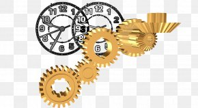 Creative Pull The Gear Clock Free - Gear Clock Illustration PNG