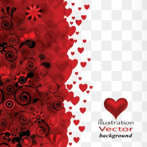 Love Pattern - Flower Heart Stock Photography PNG