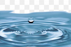 Blue Water Droplets - Drinking Water Wastewater Business Water Right PNG