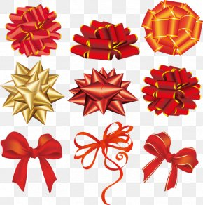 Holiday Ribbons - Ribbon Christmas Gift Clip Art PNG
