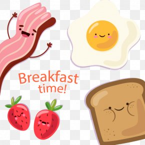 Vector Breakfast Bacon - Full Breakfast Bacon, Egg And Cheese Sandwich Pancake PNG