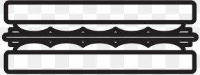 M Line Angle Font - Car Black & White PNG