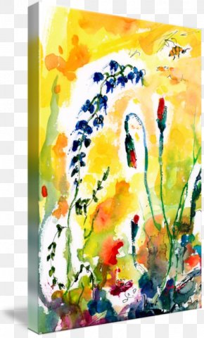 Ink Watercolor Painting - Watercolor Painting Floral Design Art Oil Paint PNG
