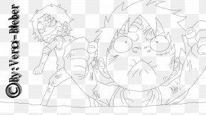 Paperchild - Monkey D. Luffy Portgas D. Ace Line Art Character Sketch PNG