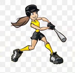 Cartoon Softball - Fastpitch Softball Cartoon Baseball Clip Art PNG
