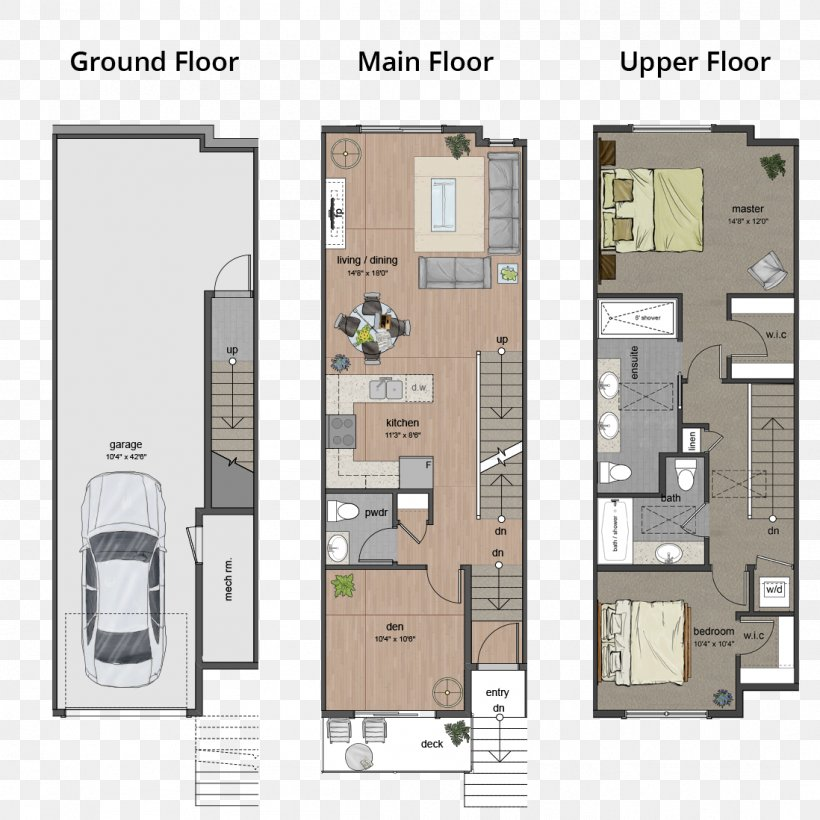 Floor Plan Apartment Townhouse, PNG