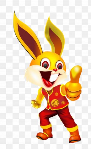 Bunny Thumbs Up - Chinese Zodiac Sticker Rooster Rabbit Adhesive PNG