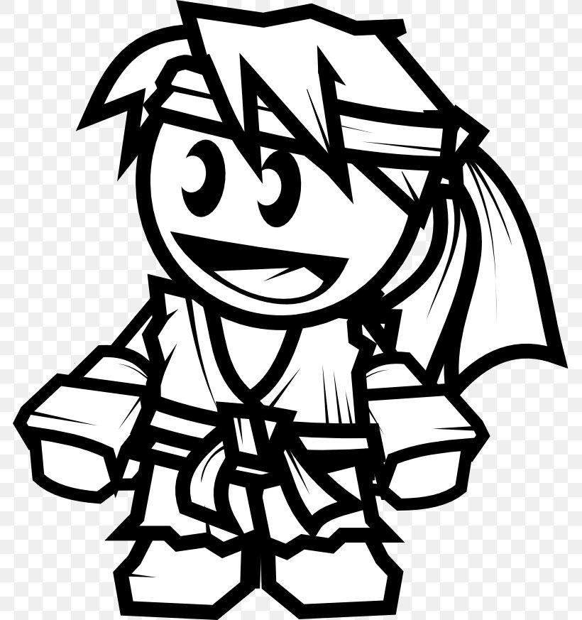 Ryu Clip Art White Black Street Fighter Png 783x873px Ryu Art