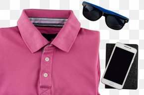 Polo Shirt With Mobile Phone Sunglasses Image - Polo Shirt T-shirt Ralph Lauren Corporation Clothing PNG
