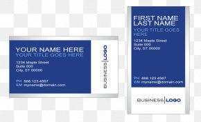 Blue Business Card Template - Business Cards Business Card Design Visiting Card Corporation PNG