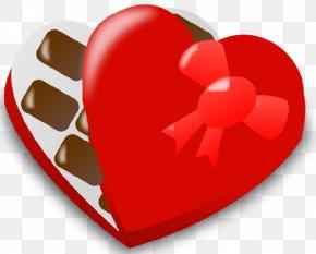 Valentine's Day - Valentine's Day Chocolate Heart Love Clip Art PNG
