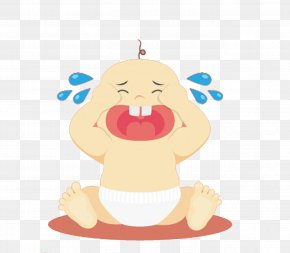 Cried Baby Boy - Infant Child Illustration PNG