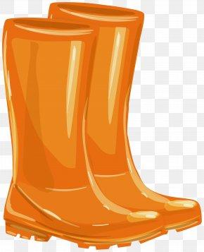 Snow Boot Shoe - Orange PNG
