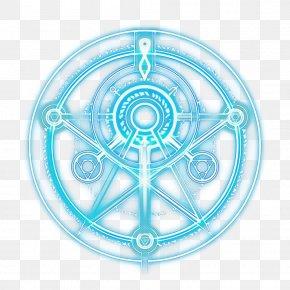 Spoke Symbol - Aqua Turquoise Circle Line Symbol PNG