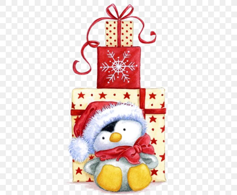 Penguin Santa Claus Christmas Gift Clip Art, PNG, 398x675px, Penguin, Christmas, Christmas Card, Christmas Decoration, Christmas Gift Download Free