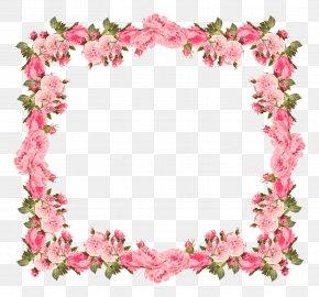 Rose Border Frame - Wedding Invitation Baby Shower Flower Clip Art PNG