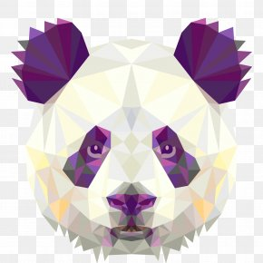 Avatar Panda Vector Geometric Pattern - Giant Panda T-shirt Poster Minimalism Wallpaper PNG