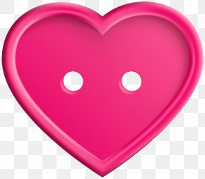Pink Heart Button Clip Art Image - Heart Icon Clip Art PNG