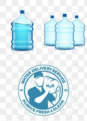 Cartoon Mineral Water - Mineral Water Purified Water Bottle PNG