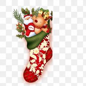 Christmas Stocking - Christmas Stocking Sock Clip Art PNG